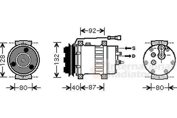 Compresseur, climatisation - VAN WEZEL - 7700K044