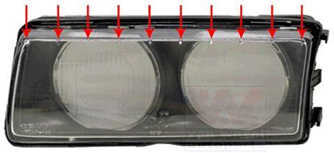 Glace striée, projecteur principal - VWA - 88VWA0640980Z