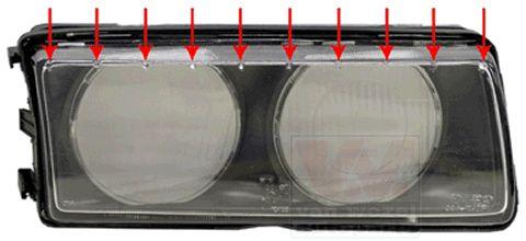 Glace striée, projecteur principal - VWA - 88VWA0640980