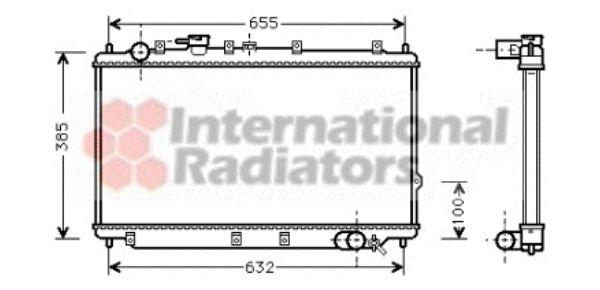 Radiateur, refroidissement du moteur - VAN WEZEL - 83002016