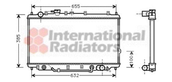 Radiateur, refroidissement du moteur - VAN WEZEL - 83002017