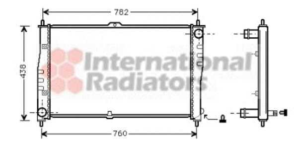 Radiateur, refroidissement du moteur - VAN WEZEL - 83002018