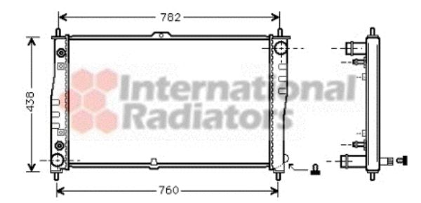 Radiateur, refroidissement du moteur - VWA - 88VWA83002019