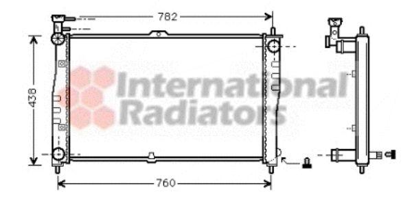 Radiateur, refroidissement du moteur - VAN WEZEL - 83002020