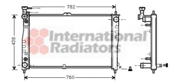 Radiateur, refroidissement du moteur - VAN WEZEL - 83002021