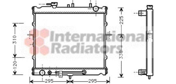 Radiateur, refroidissement du moteur - VAN WEZEL - 83002023