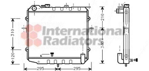 Radiateur, refroidissement du moteur - VAN WEZEL - 83002024