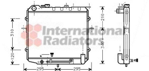 Radiateur, refroidissement du moteur - VAN WEZEL - 83002025
