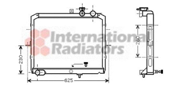 Radiateur, refroidissement du moteur - VAN WEZEL - 83002033