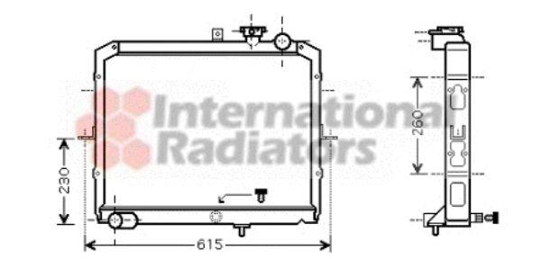 Radiateur, refroidissement du moteur - VAN WEZEL - 83002036