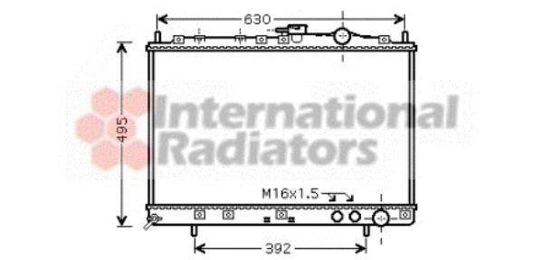 Radiateur, refroidissement du moteur - VAN WEZEL - 83002037