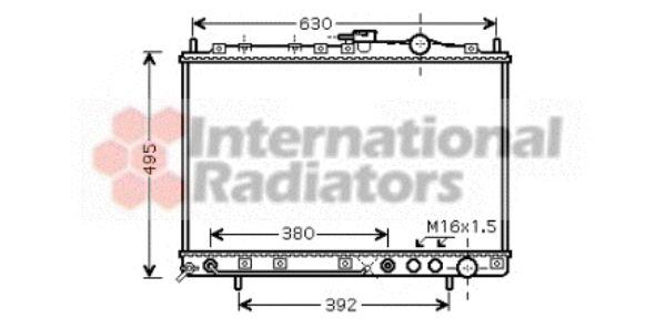 Radiateur, refroidissement du moteur - VAN WEZEL - 83002038
