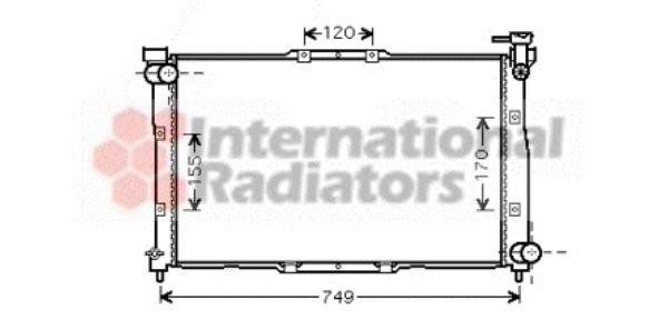 Radiateur, refroidissement du moteur - VAN WEZEL - 83002039