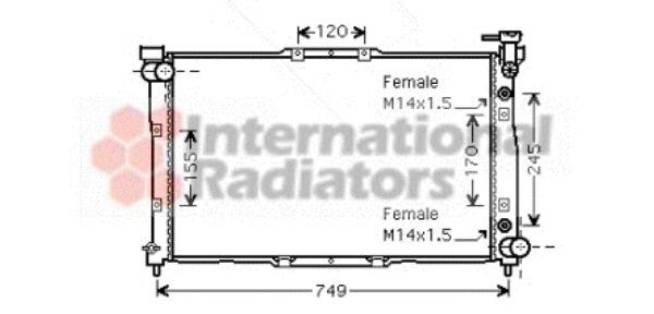 Radiateur, refroidissement du moteur - VAN WEZEL - 83002040