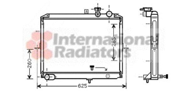 Radiateur, refroidissement du moteur - VAN WEZEL - 83002053