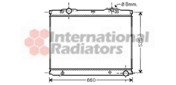 Radiateur, refroidissement du moteur - VAN WEZEL - 83002055