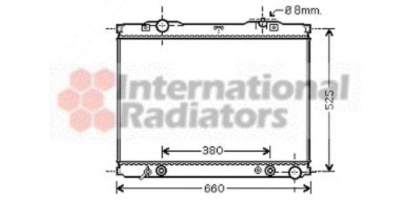 Radiateur, refroidissement du moteur - VAN WEZEL - 83002056