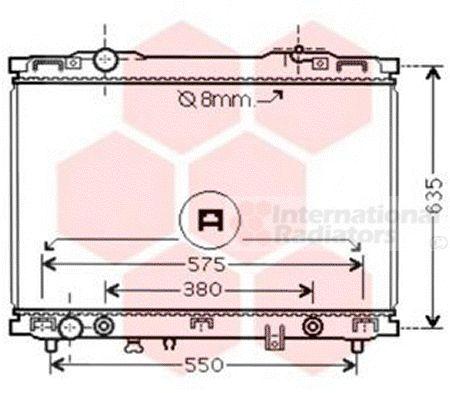Radiateur, refroidissement du moteur - VAN WEZEL - 83002057