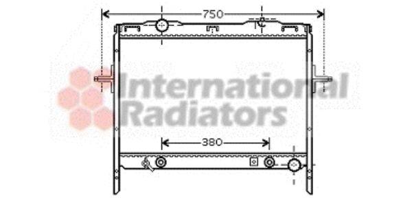 Radiateur, refroidissement du moteur - VAN WEZEL - 83002058