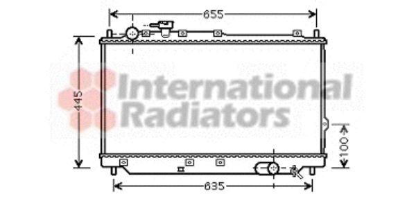 Radiateur, refroidissement du moteur - VAN WEZEL - 83002059