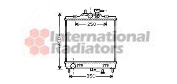 Radiateur, refroidissement du moteur - VAN WEZEL - 83002063