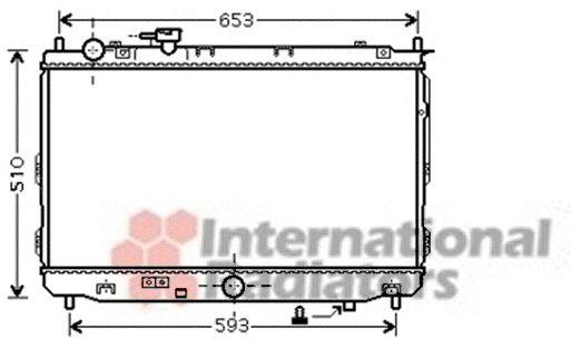 Radiateur, refroidissement du moteur - VAN WEZEL - 83002070