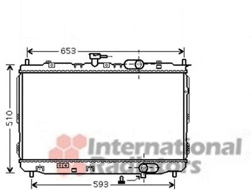 Radiateur, refroidissement du moteur - VAN WEZEL - 83002072