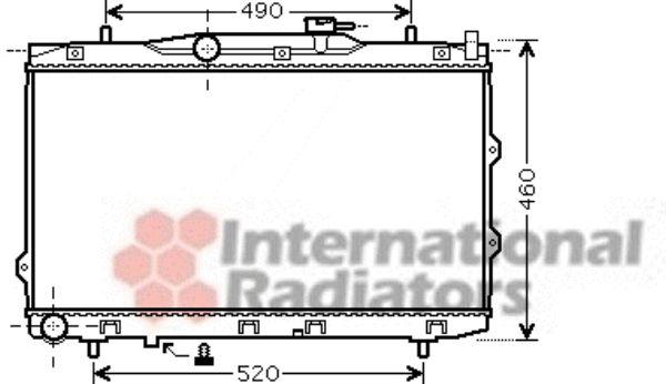 Radiateur, refroidissement du moteur - VAN WEZEL - 83002074