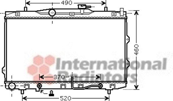 Radiateur, refroidissement du moteur - VAN WEZEL - 83002075