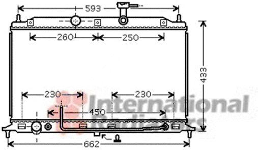 Radiateur, refroidissement du moteur - VAN WEZEL - 83002078