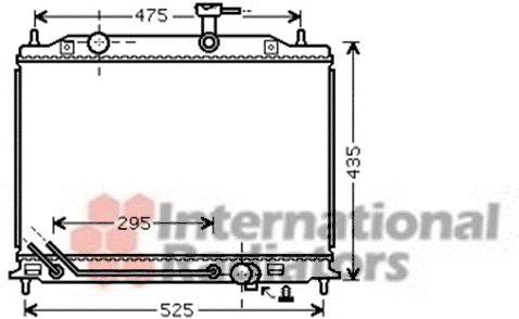 Radiateur, refroidissement du moteur - VAN WEZEL - 83002080
