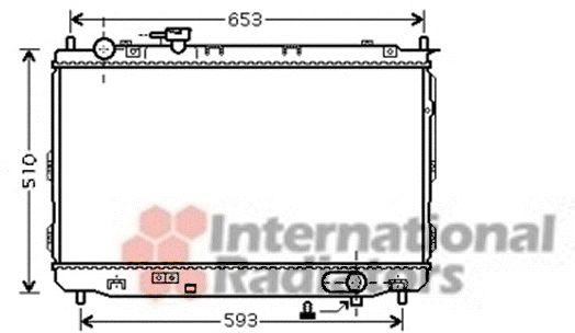 Radiateur, refroidissement du moteur - VAN WEZEL - 83002084