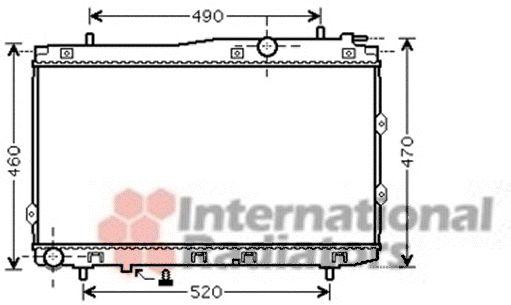 Radiateur, refroidissement du moteur - VAN WEZEL - 83002086