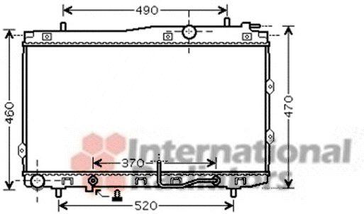 Radiateur, refroidissement du moteur - VAN WEZEL - 83002090