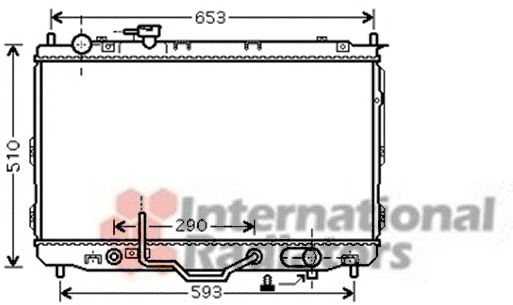 Radiateur, refroidissement du moteur - VAN WEZEL - 83002096
