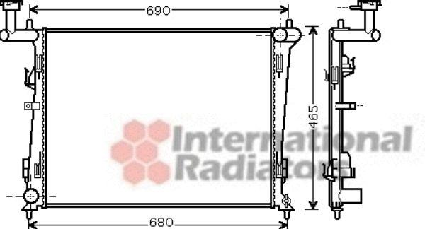 Radiateur, refroidissement du moteur - VAN WEZEL - 83002097