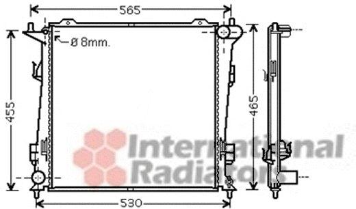 Radiateur, refroidissement du moteur - VAN WEZEL - 83002098