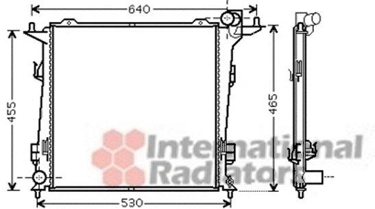 Radiateur, refroidissement du moteur - VWA - 88VWA83002099