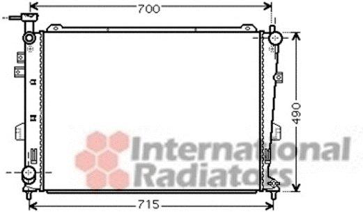 Radiateur, refroidissement du moteur - VAN WEZEL - 83002103