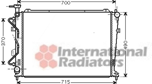 Radiateur, refroidissement du moteur - VAN WEZEL - 83002106