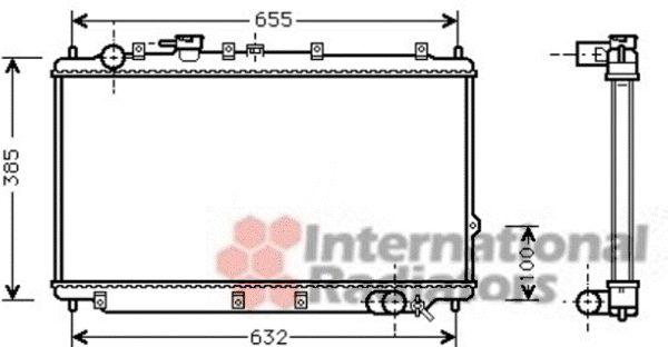Radiateur, refroidissement du moteur - VAN WEZEL - 83002114