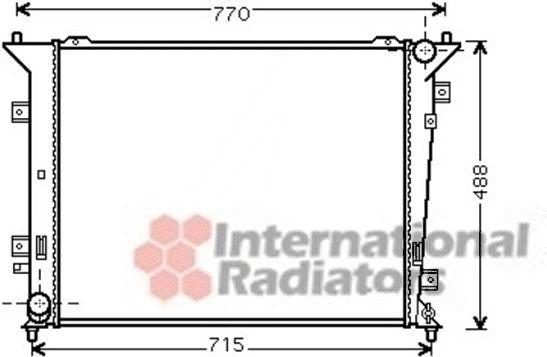 Radiateur, refroidissement du moteur - VAN WEZEL - 83002122