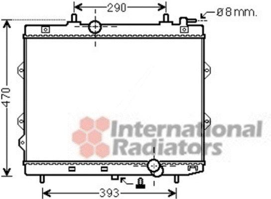 Radiateur, refroidissement du moteur - VAN WEZEL - 83002129