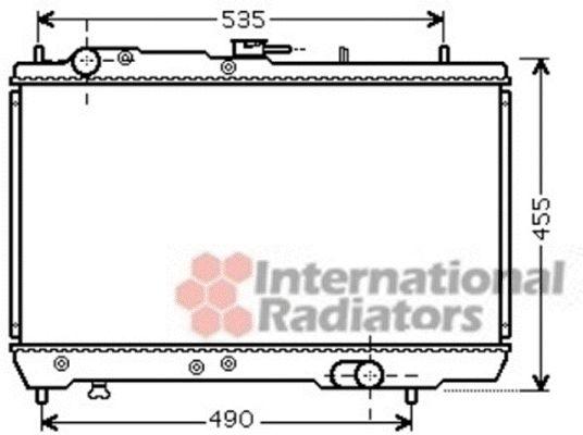 Radiateur, refroidissement du moteur - VAN WEZEL - 83002131
