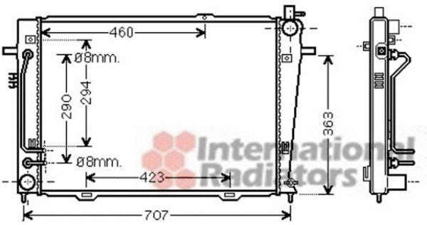 Radiateur, refroidissement du moteur - VAN WEZEL - 83002132