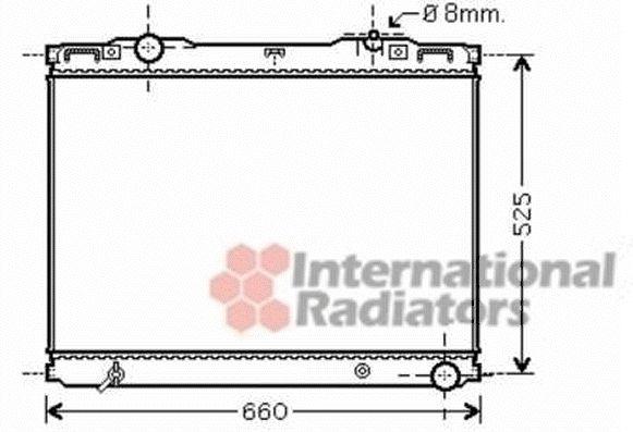 Radiateur, refroidissement du moteur - VAN WEZEL - 83002133