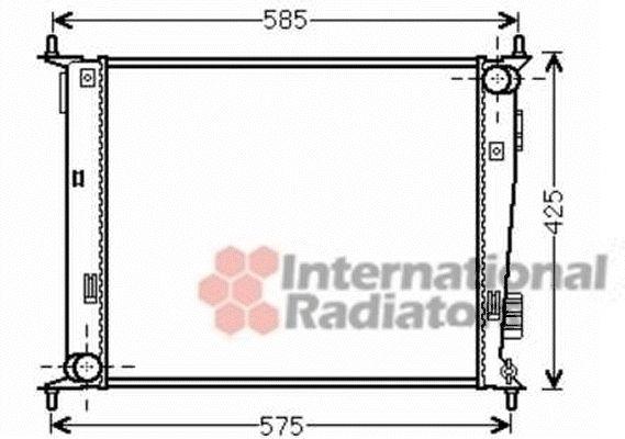 Radiateur, refroidissement du moteur - VAN WEZEL - 83002135