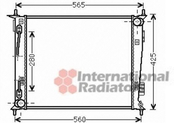 Radiateur, refroidissement du moteur - VAN WEZEL - 83002136