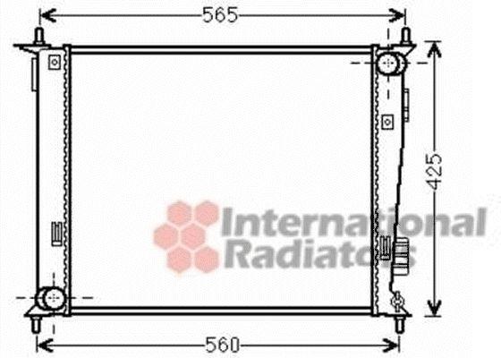 Radiateur, refroidissement du moteur - VAN WEZEL - 83002143