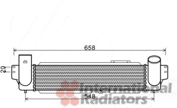 Intercooler, échangeur - VAN WEZEL - 83004141